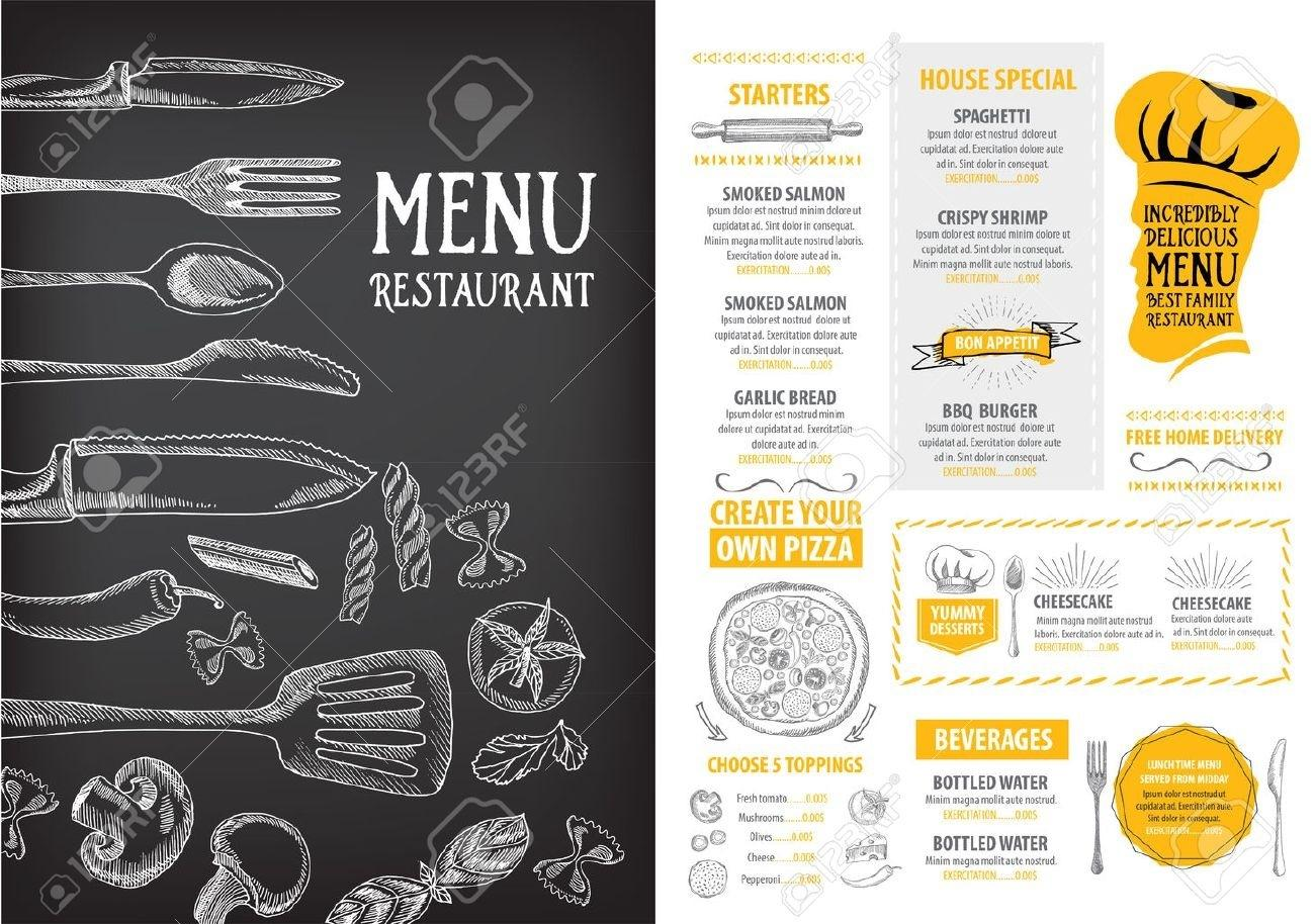 Free Printable Blank Restaurant Menu Templates