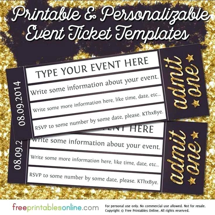 Free Printable Blank Ticket Templates