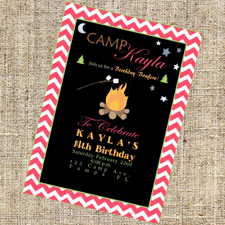 Free Printable Bonfire Invitation Template