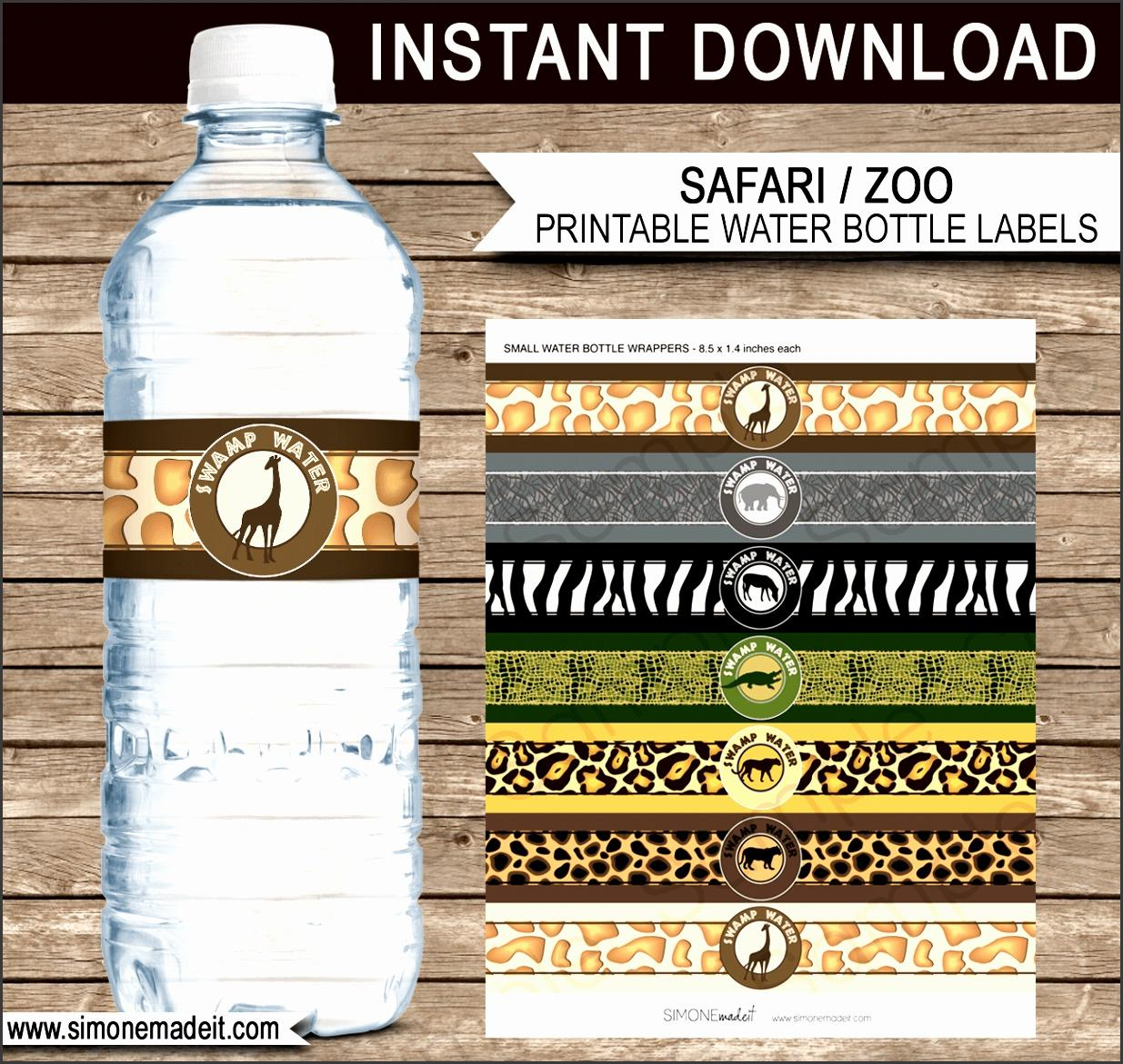 Free Printable Bottled Water Label Template