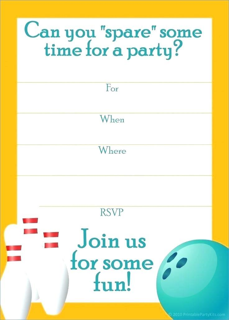 Free Printable Bowling Birthday Invitation Templates