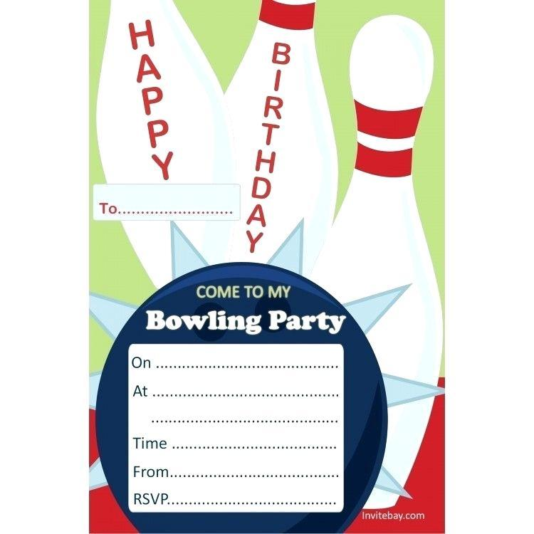 Free Printable Bowling Party Invitation Template