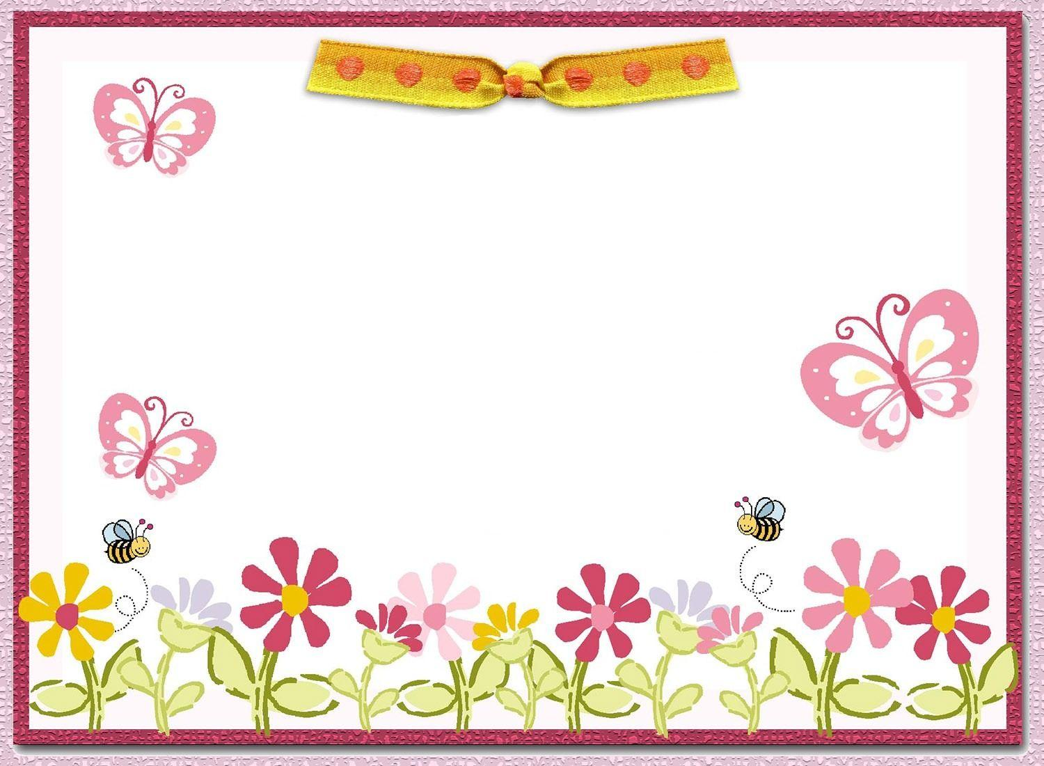 Free Printable Butterfly Invitation Template