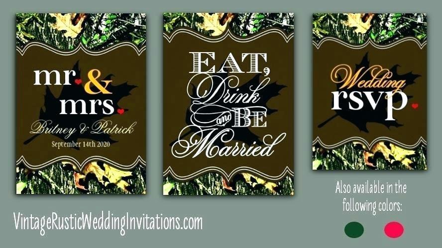 Free Printable Camo Wedding Invitation Templates