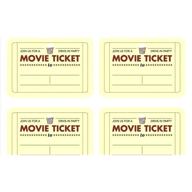 Free Printable Carnival Tickets Templates