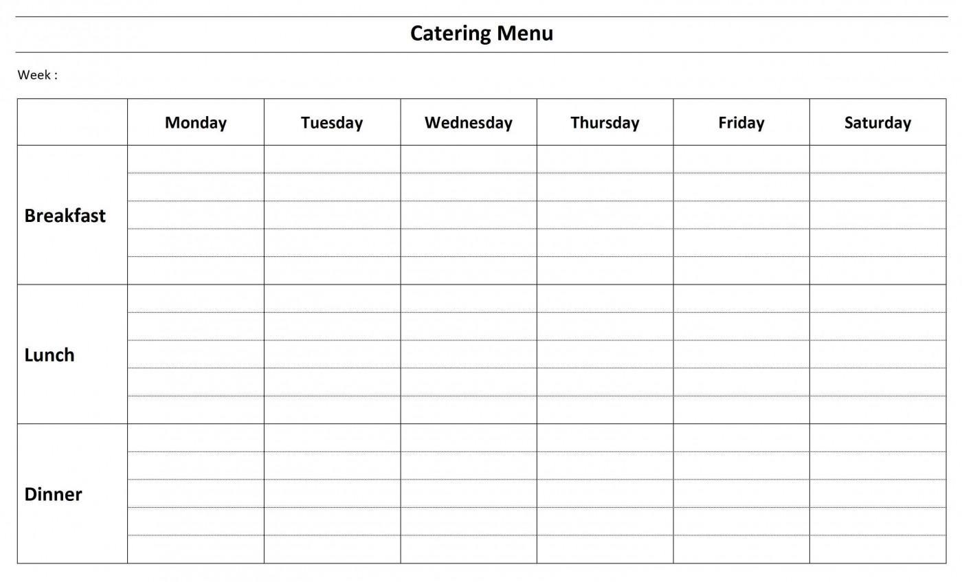 Free Printable Catering Menu Templates