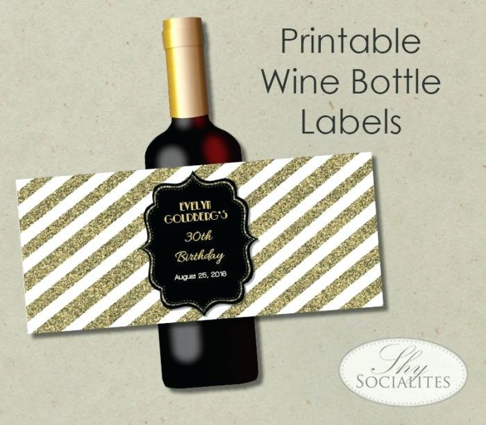Free Printable Champagne Bottle Label Template