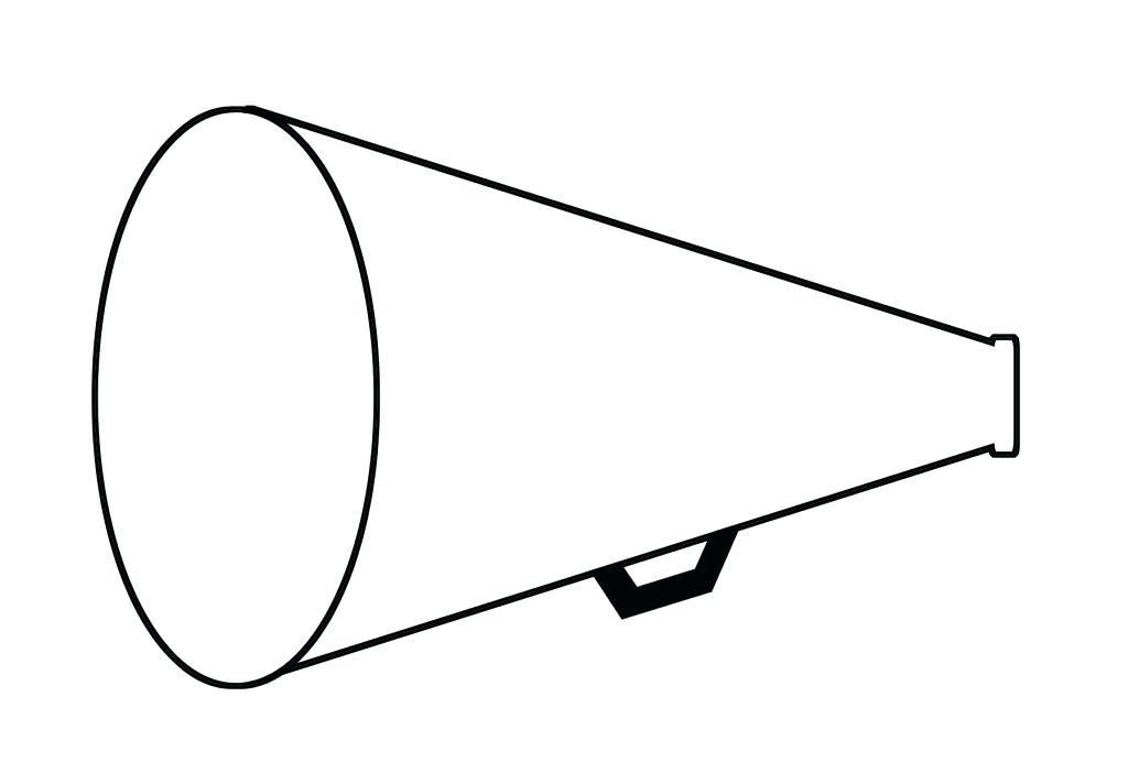Free Printable Cheer Megaphone Template