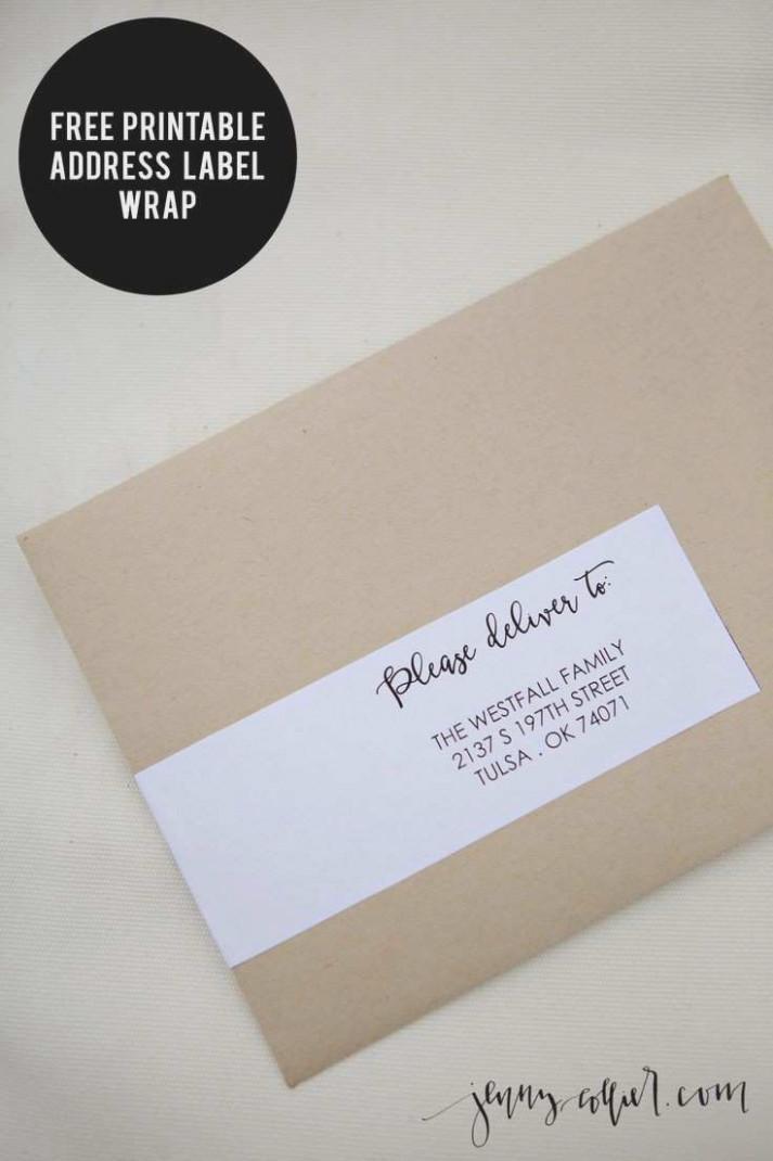 Free Printable Christmas Address Label Templates