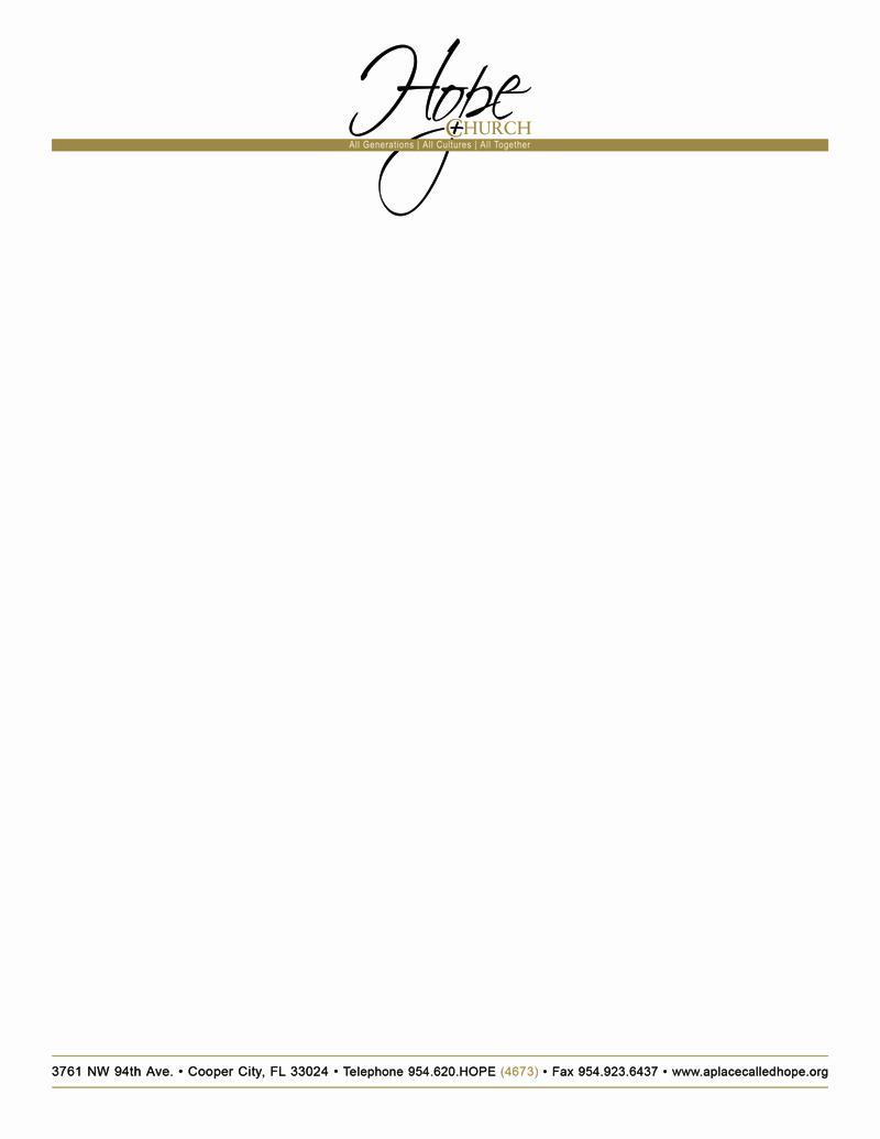 Free Printable Church Letterhead Templates