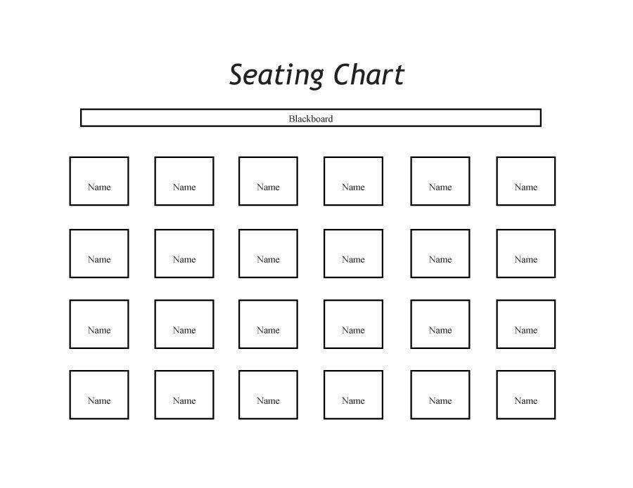 Free Printable Classroom Seating Chart Template