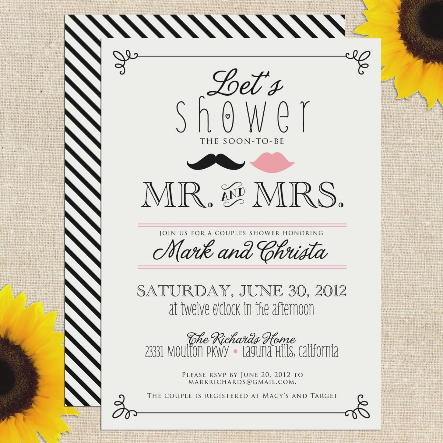 Free Printable Couples Wedding Shower Invitations Templates
