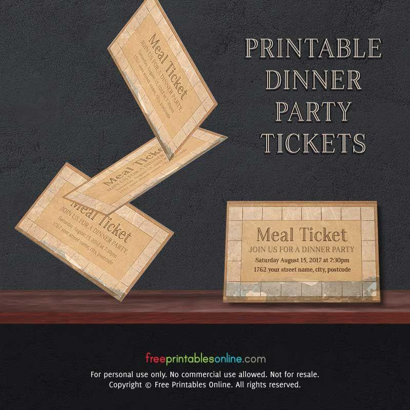 Free Printable Dinner Ticket Templates