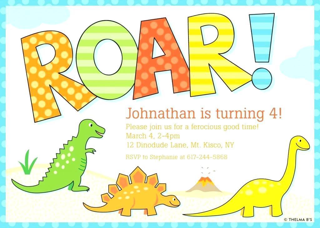 Free Printable Dinosaur Birthday Invitations Templates
