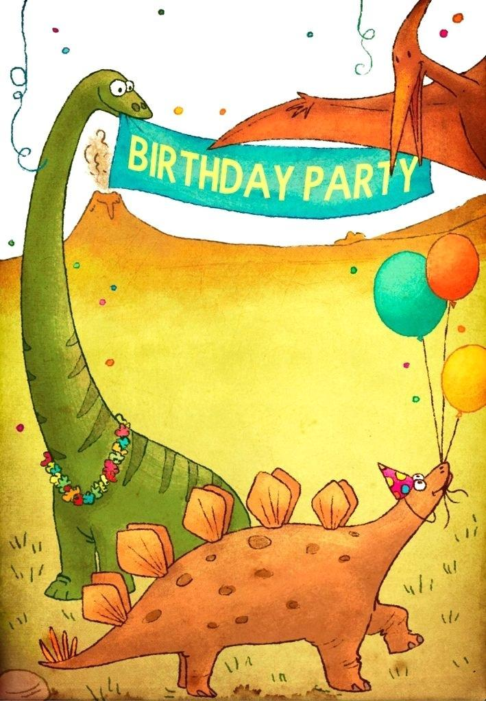 Free Printable Dinosaur Invitation Templates