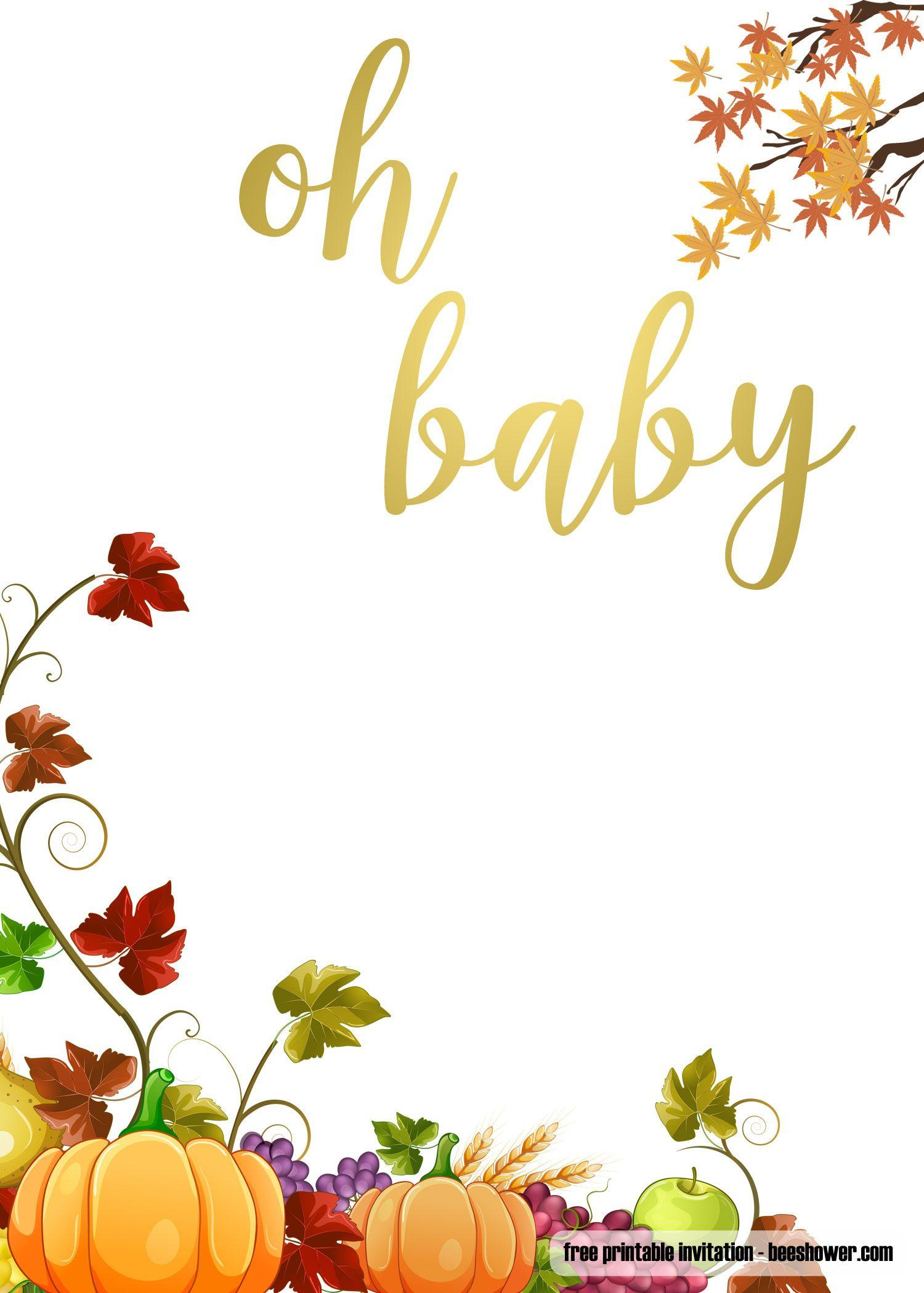 Free Printable Fall Invitation Templates