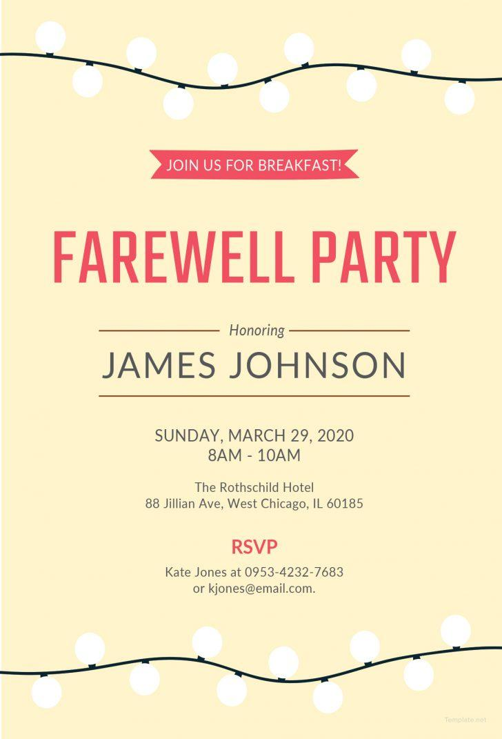 Free Printable Farewell Party Invitations Templates