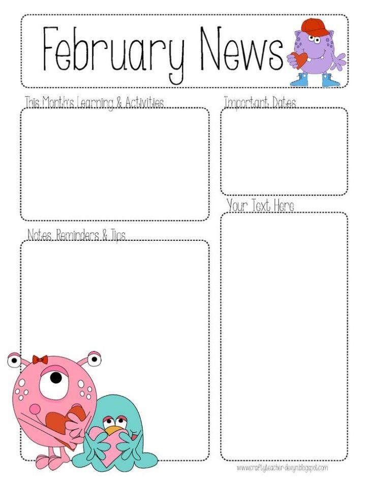 Free Printable February Newsletter Templates