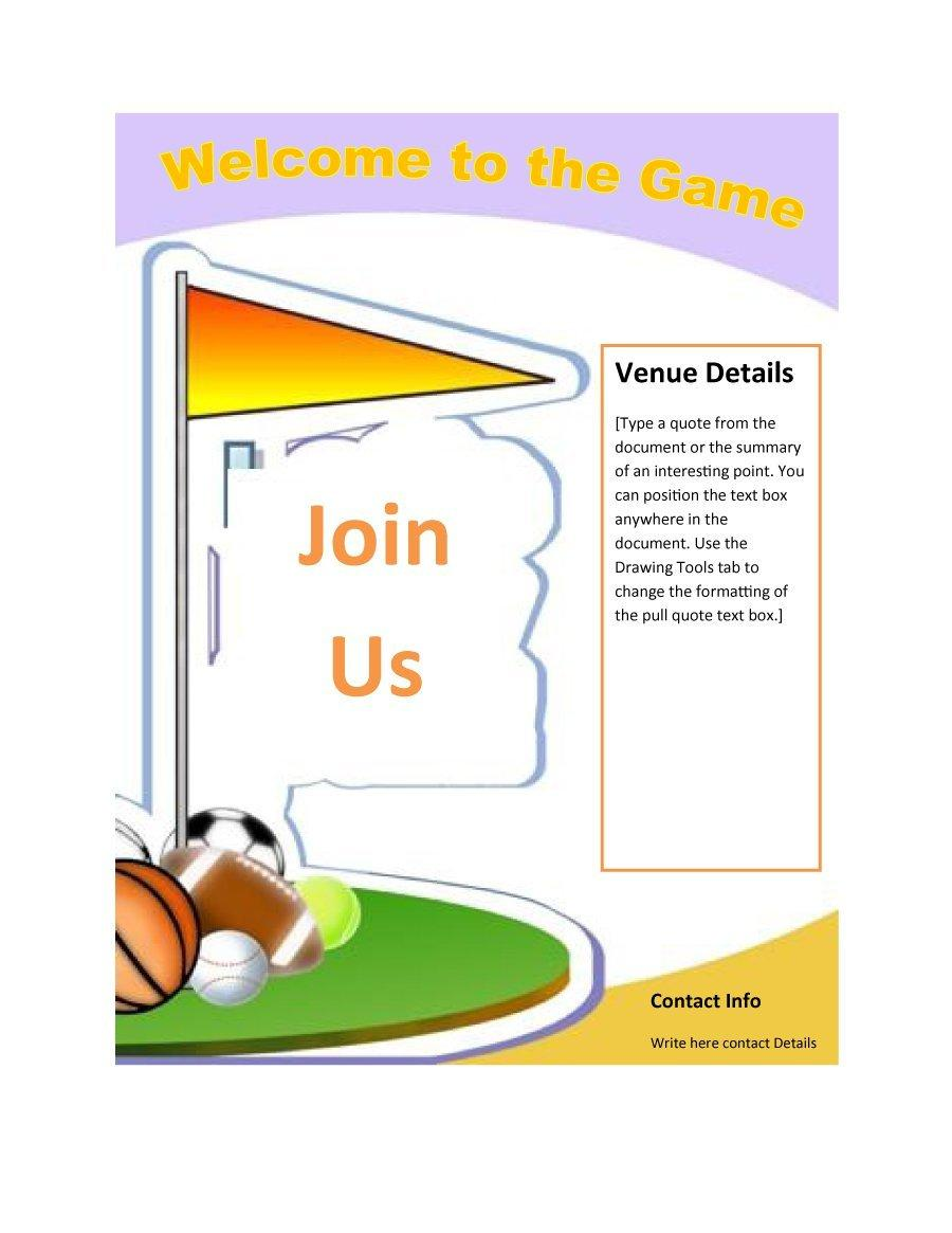 Free Printable Flyer Templates Word