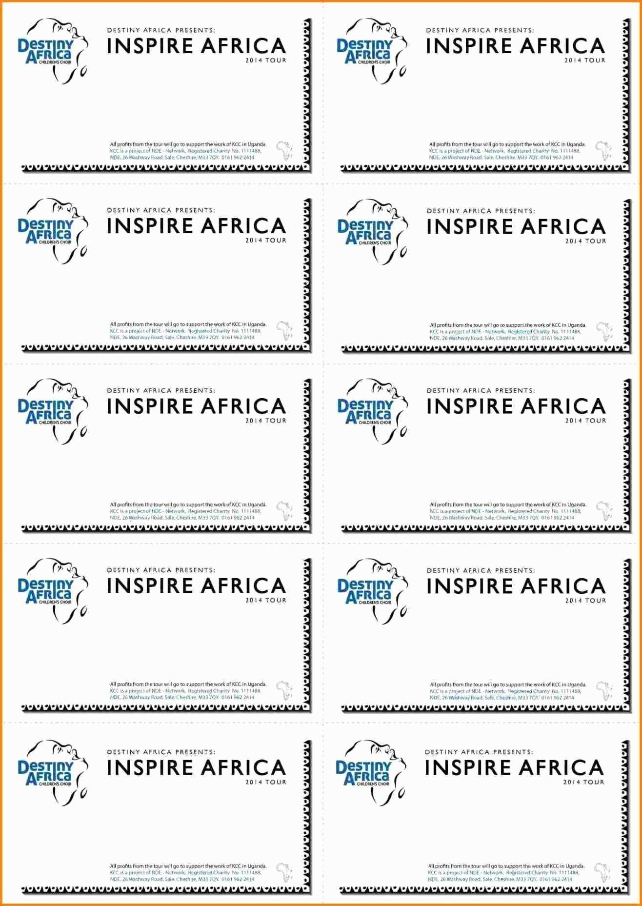 Free Printable Fundraiser Ticket Template