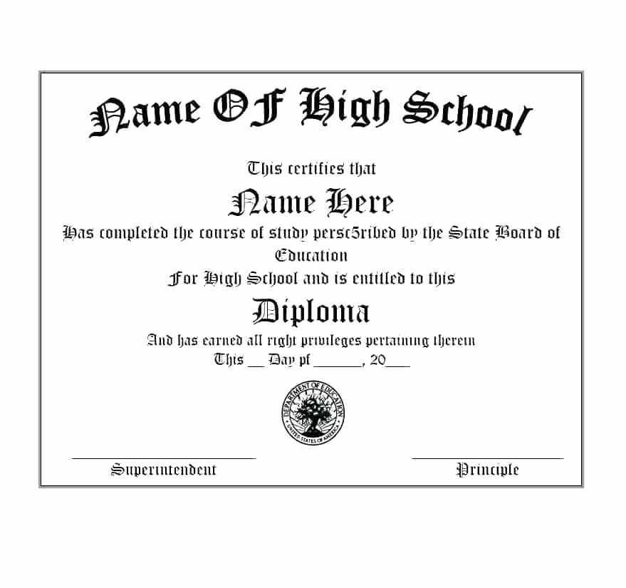 Free Printable Ged Diploma Templates