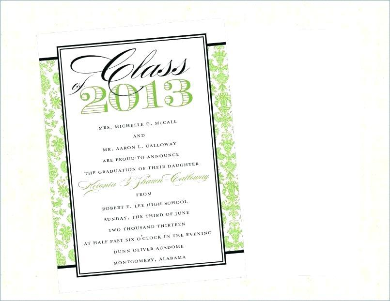 Free Printable High School Graduation Announcement Templates