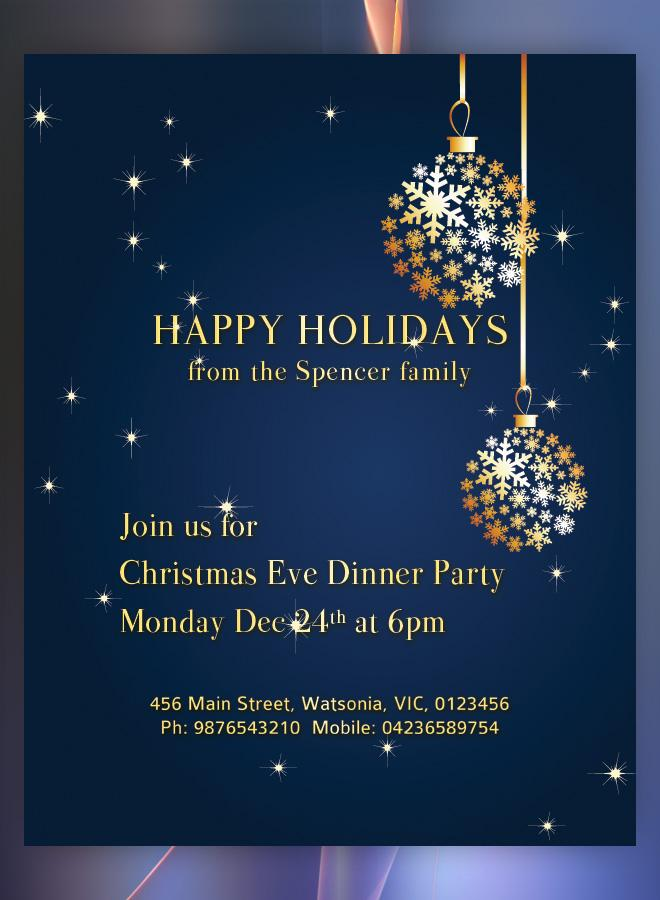 Free Printable Holiday Party Flyer Templates
