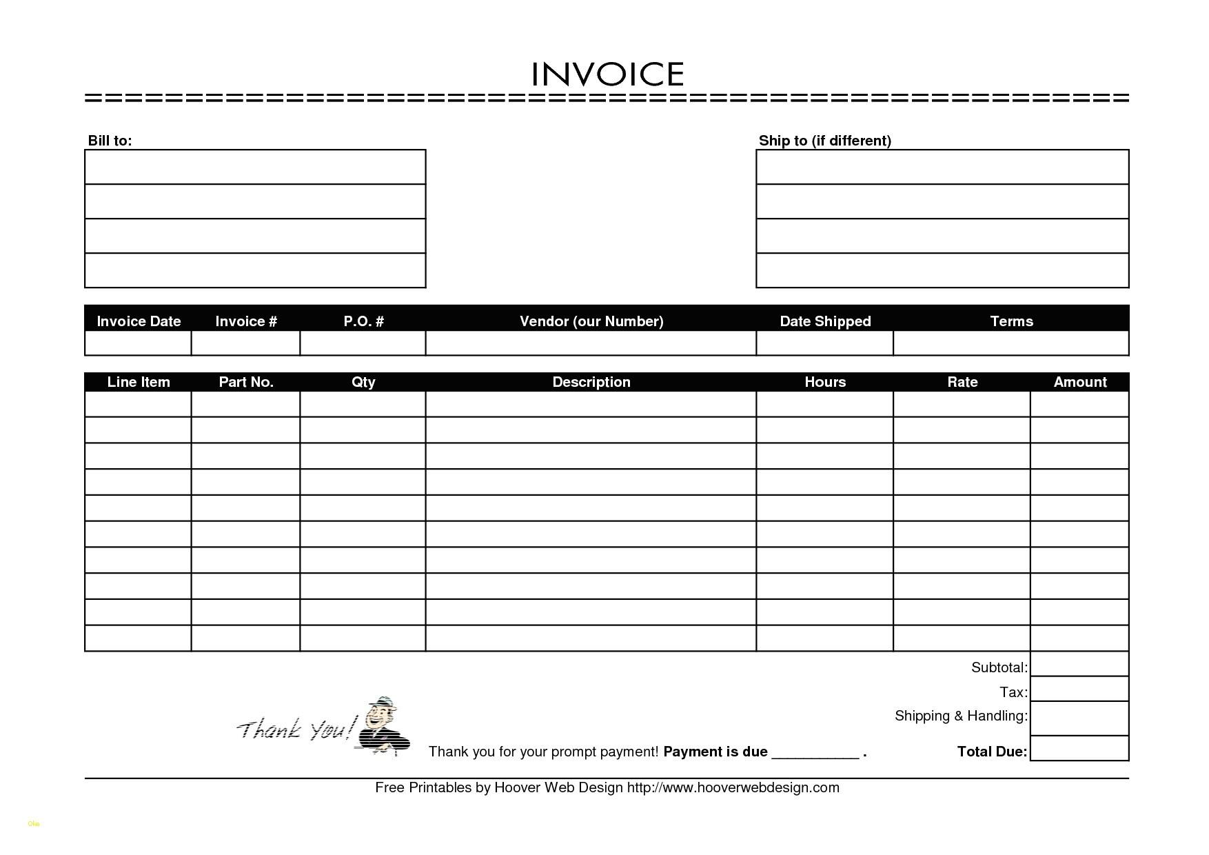 Free Printable Invoice Template Ireland