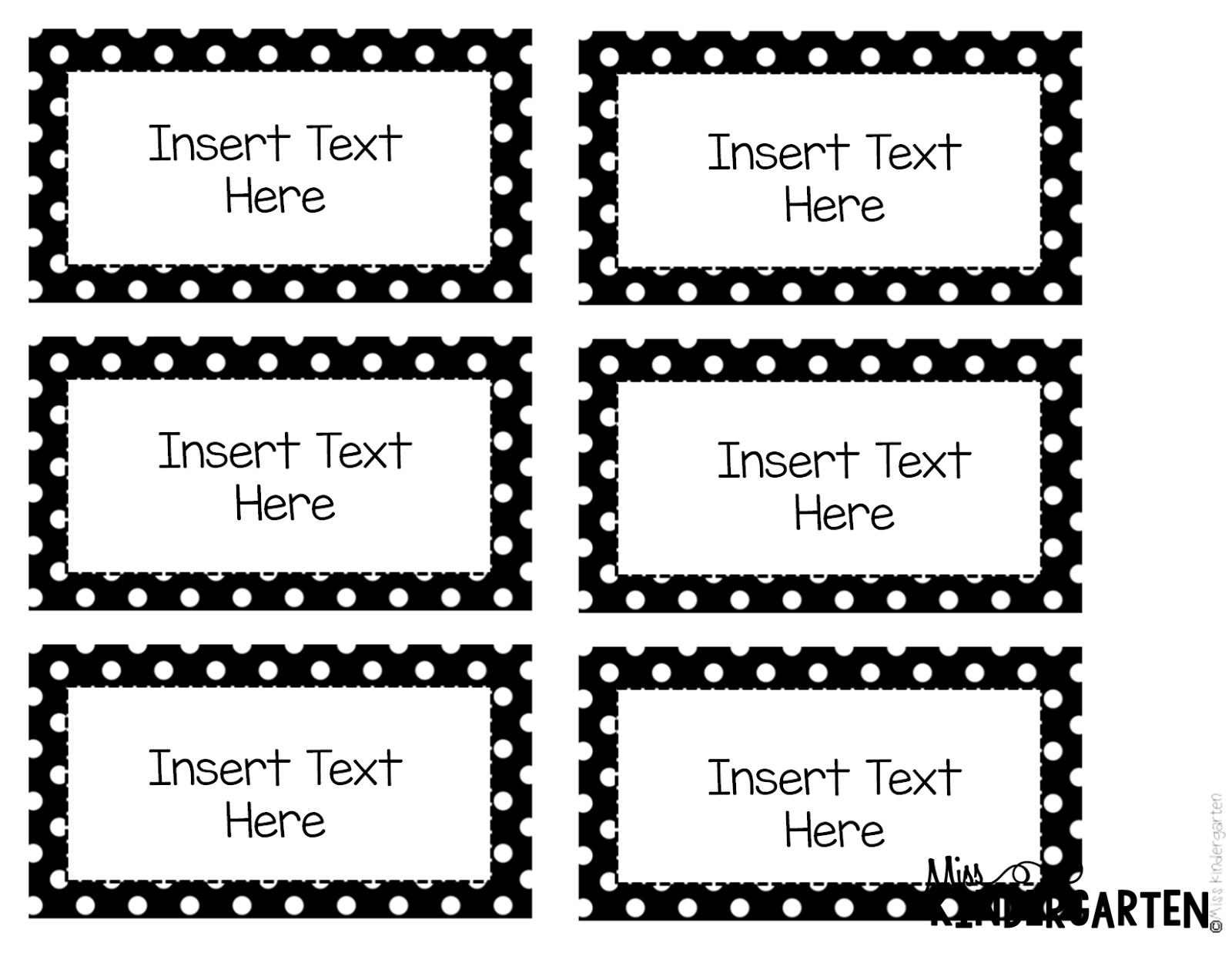 Free Printable Label Templates For School