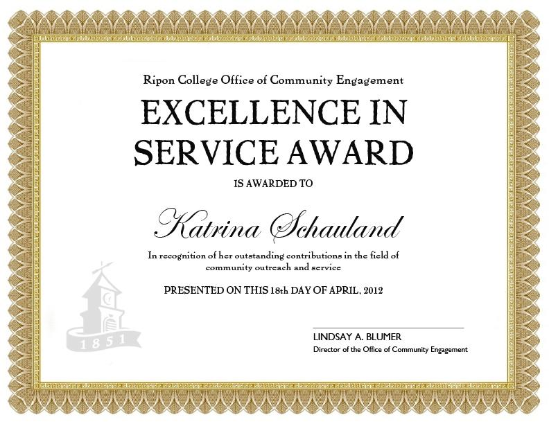 Free Printable Long Service Award Certificate Template