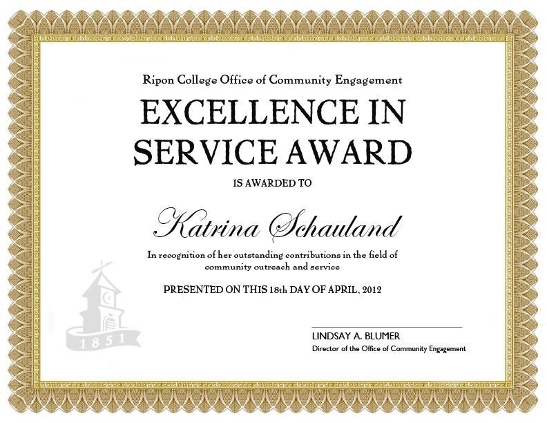Free Printable Long Service Award Certificate Template