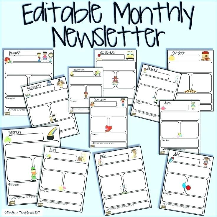 Free Printable March Newsletter Template