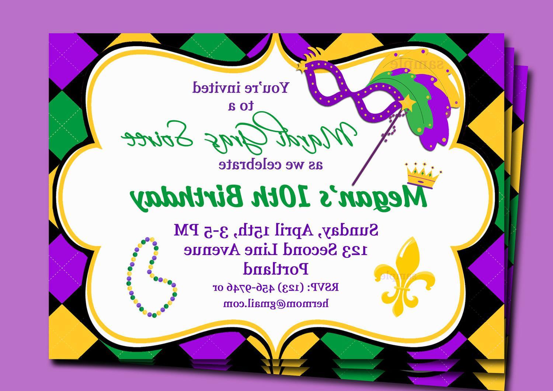 Free Printable Mardi Gras Invitation Templates