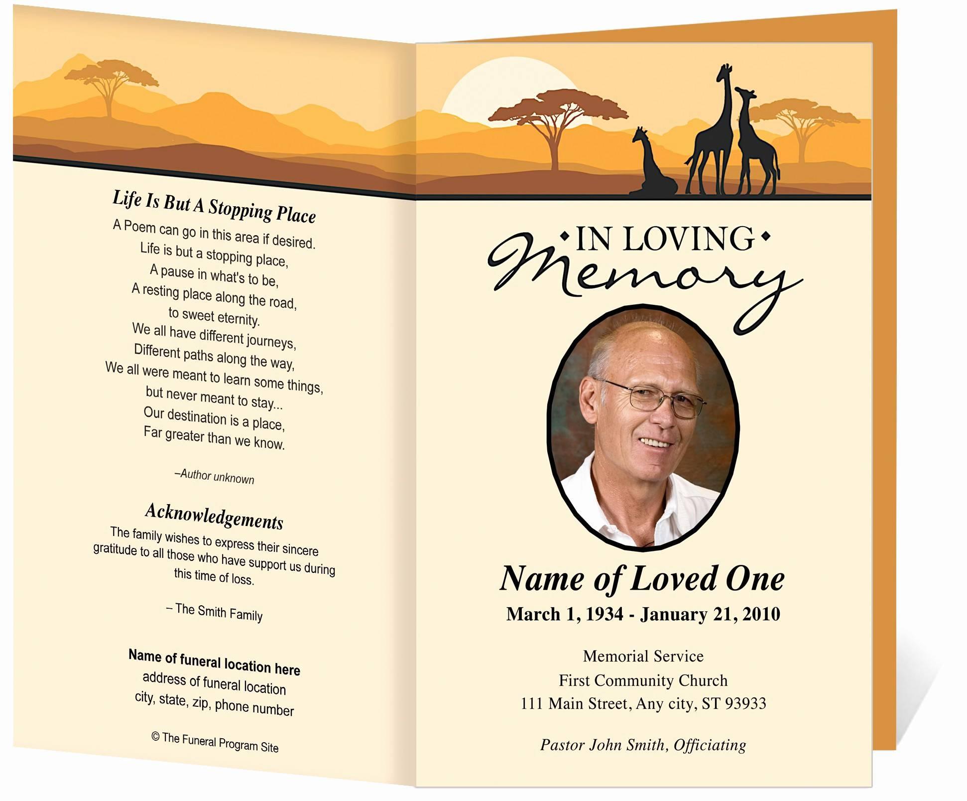 Free Printable Memorial Program Templates