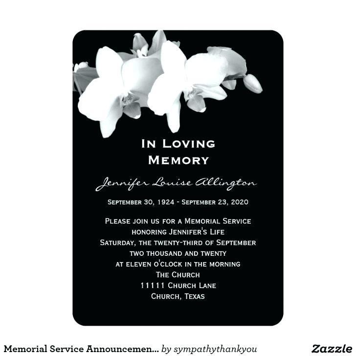 Free Printable Memorial Service Invitation Template