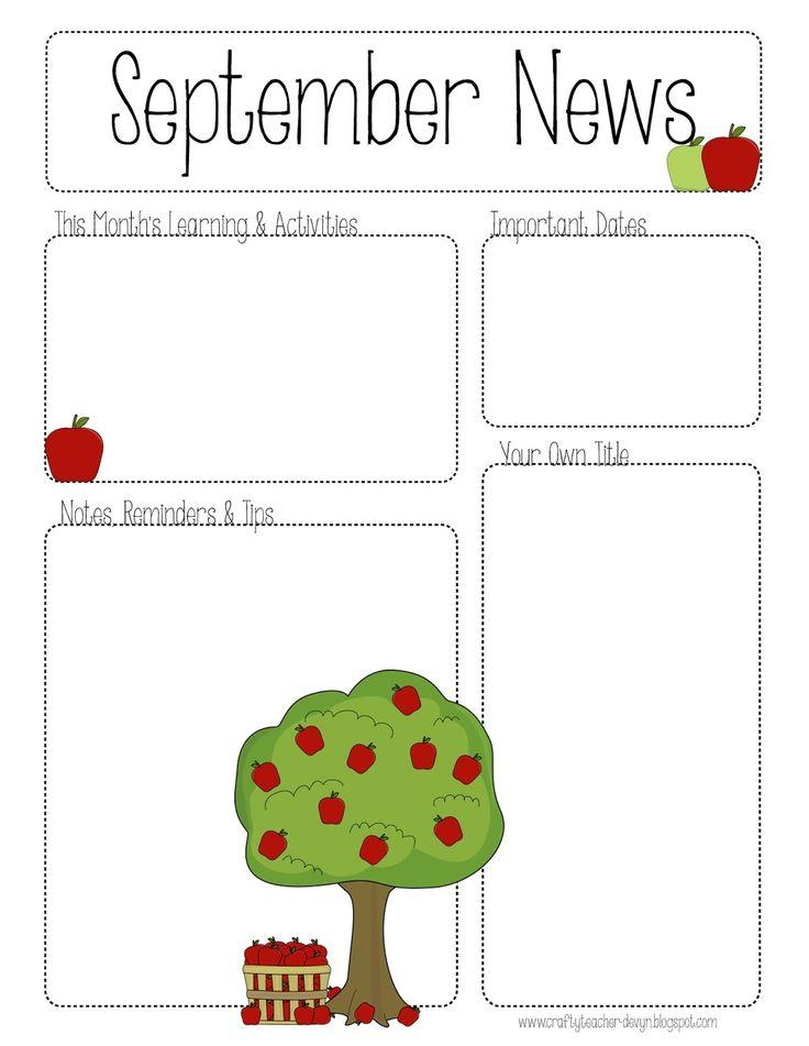 Free Printable Monthly Newsletter Templates