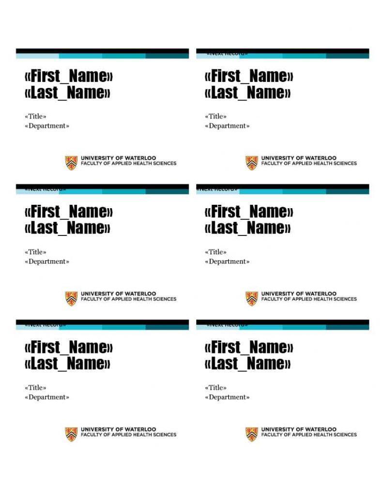 Free Printable Name Badges Template