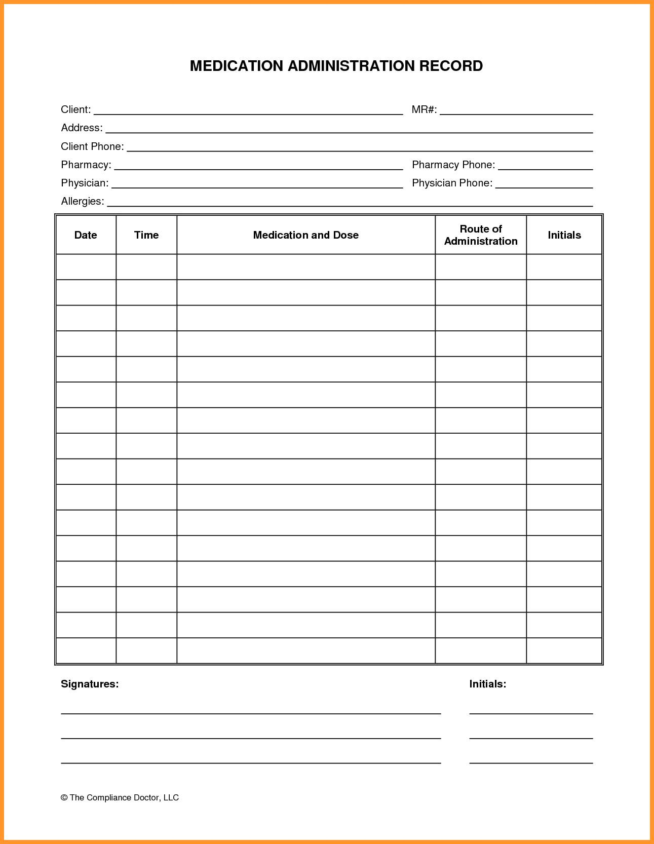 Free Printable Prescription Pad Template