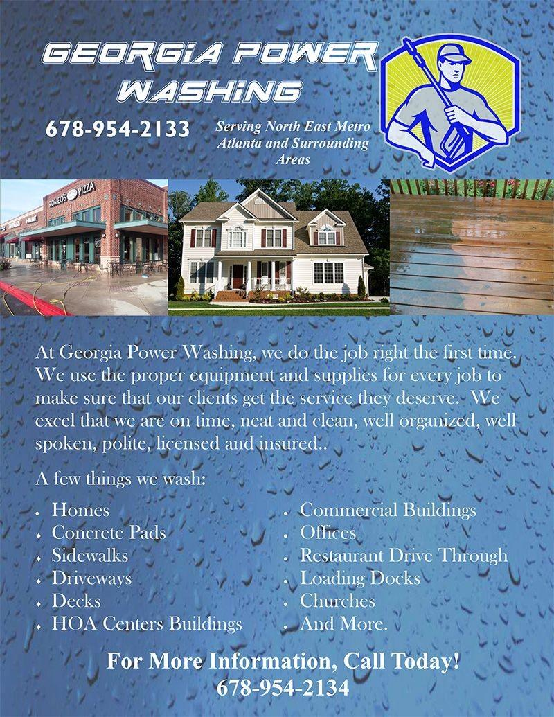 Free Printable Pressure Washing Flyer Template