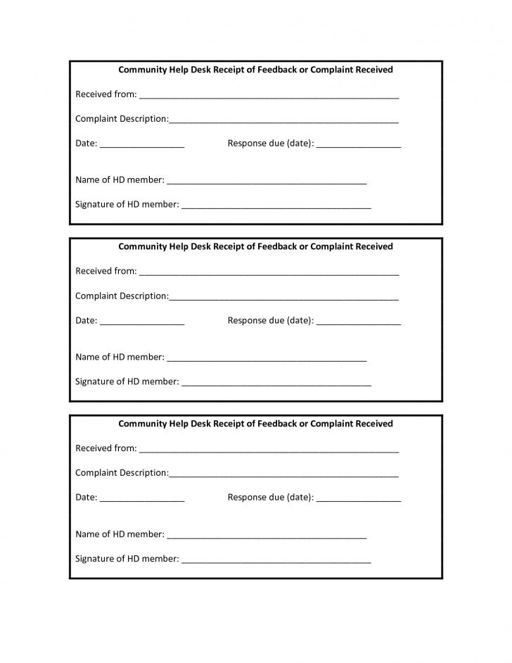 Free Printable Receipt Book Template