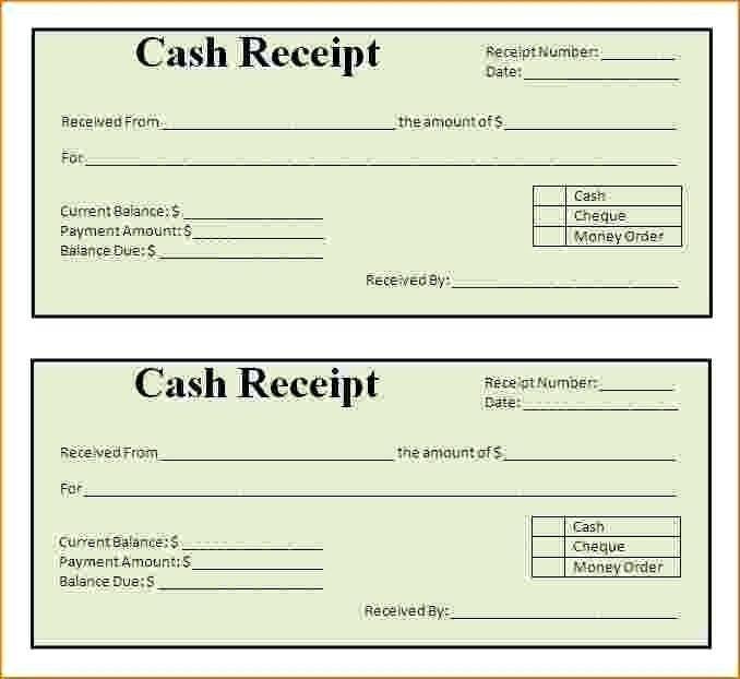 Free Printable Receipt Form