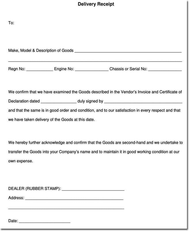 Free Printable Receipt Templates