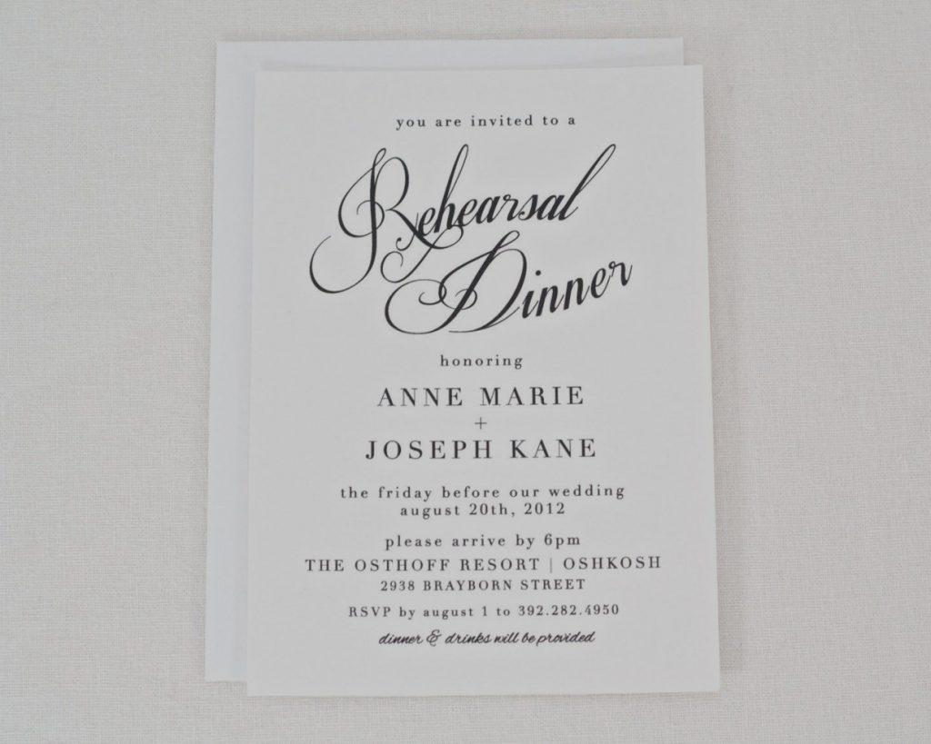Free Printable Rehearsal Dinner Invitations Templates