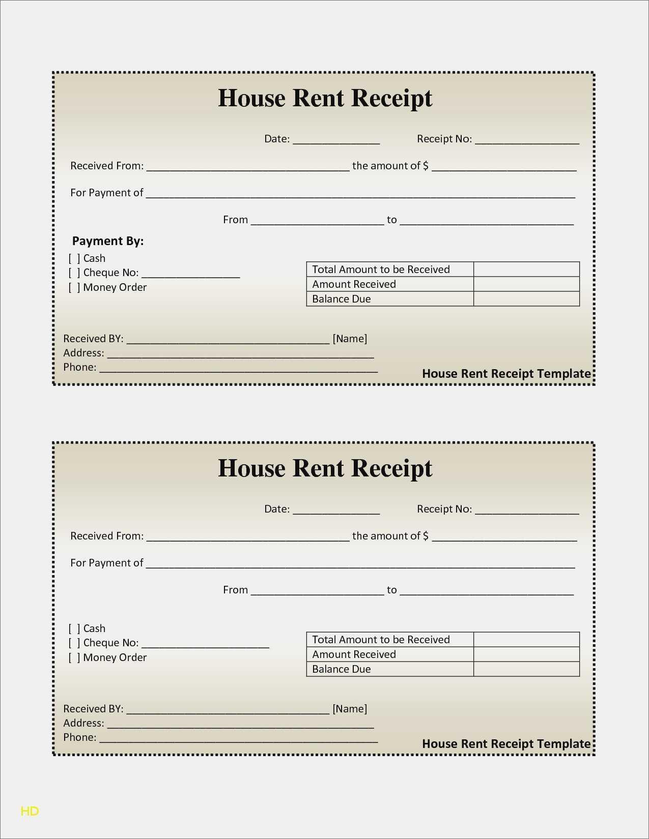 Free Printable Rent Receipts Templates