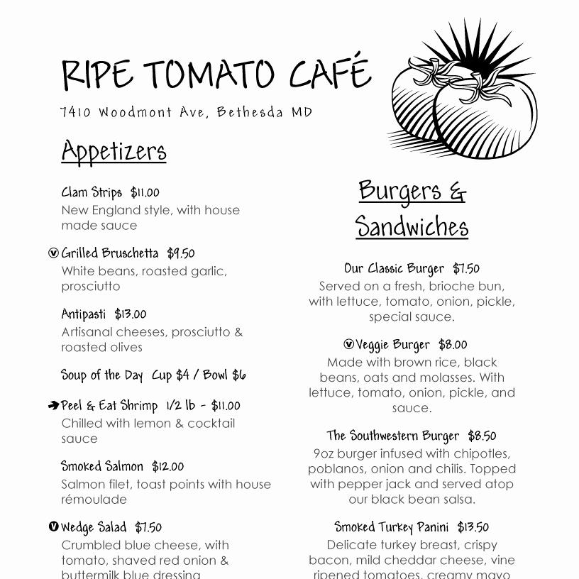 Free Printable Restaurant Menu Templates Pdf