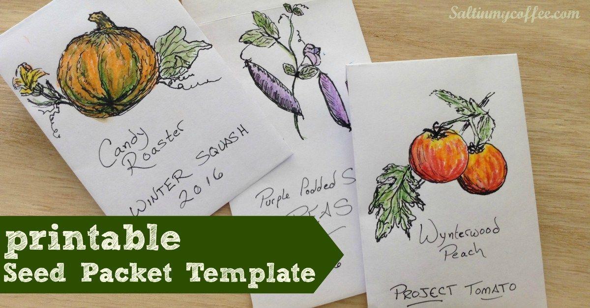 Free Printable Seed Packet Template