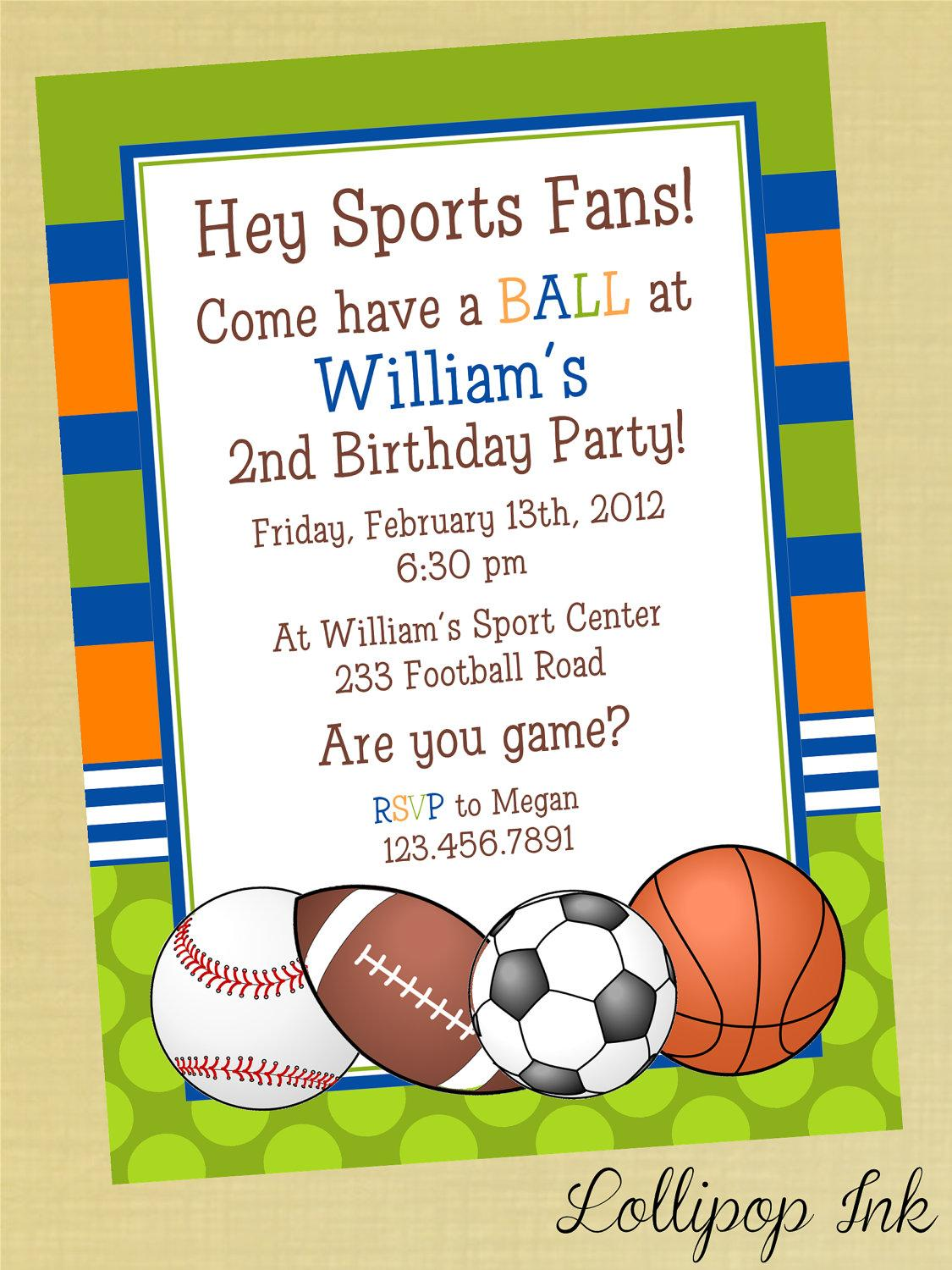 Free Printable Super Bowl Party Invitation Template