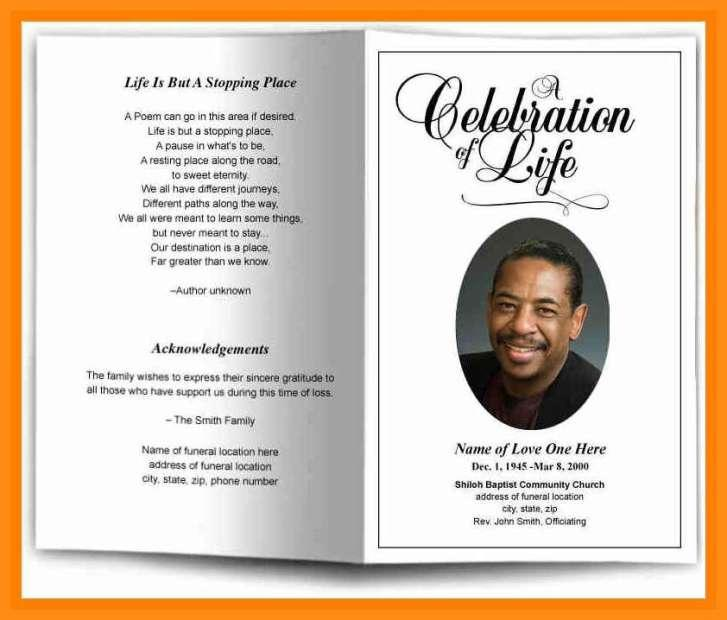 Free Printable Template For Funeral Program