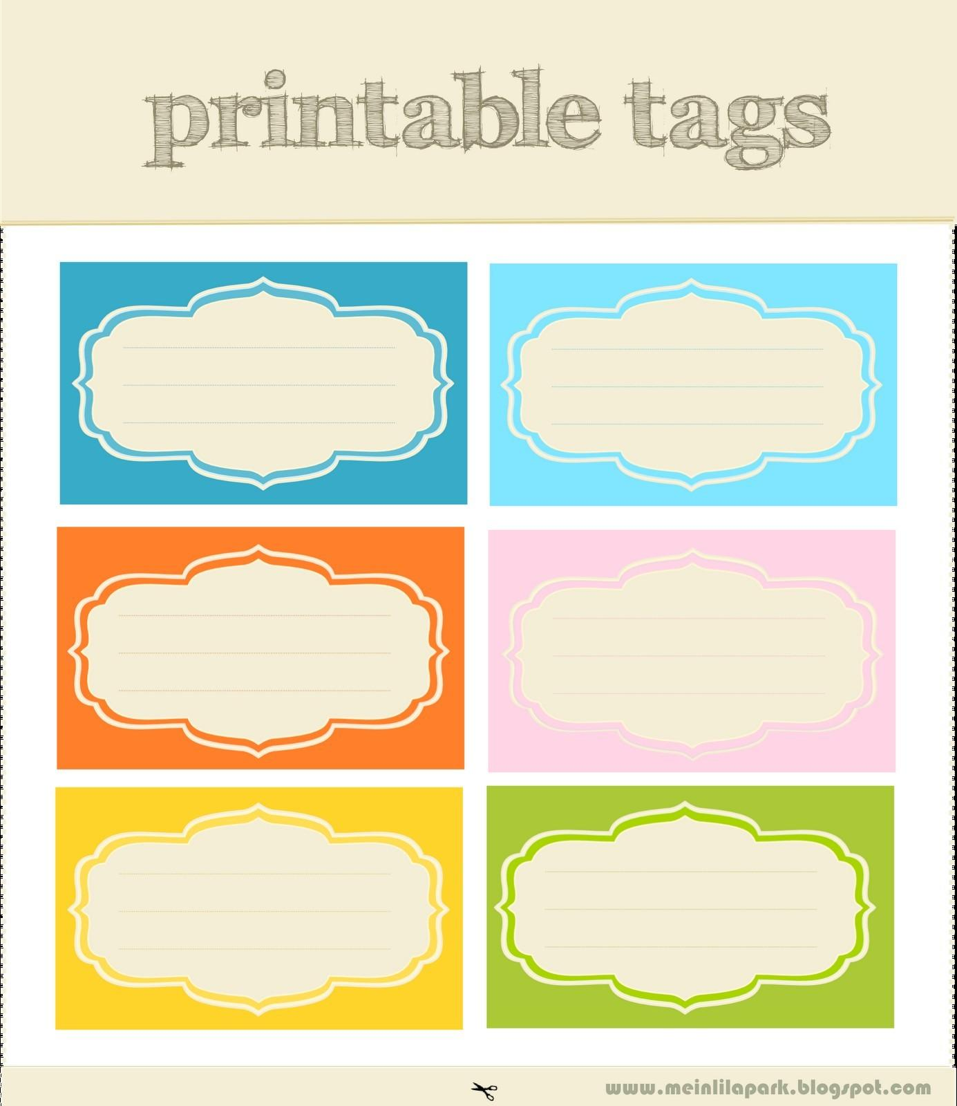 Free Printable Template For Name Tags
