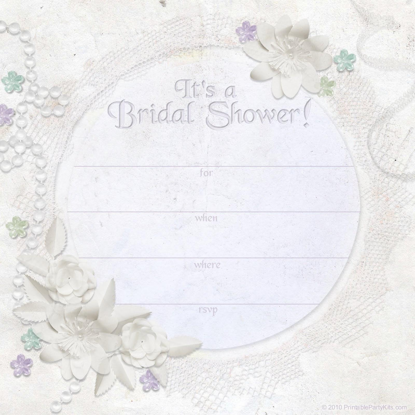 Free Printable Templates For Bridal Shower Invitations